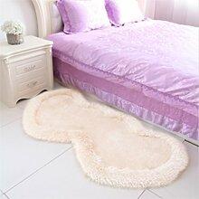 Europäischen Stil Lovely Heart-förmigen Teppich Schlafzimmer Bedside Carpet Comfortable Soft ( farbe : #7 , größe : 0.7*1.4m )