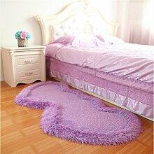 Europäischen Stil Lovely Heart-förmigen Teppich Schlafzimmer Bedside Carpet Comfortable Soft ( farbe : # 6 , größe : 0.8*1.6m )