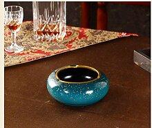 Europäischen Stil Retro Aschenbecher Keramik Prozess große kreative Wohnzimmer Couchtisch Büro Persönlichkeit Dekoration Geschenk Se