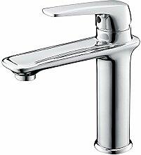 Europäischen Stil Retro-Waschbecken Wasserhahn Alle Kupfer warmen und kalten Waschtischmischer Bad Waschtisch-Armatur Waschbecken SLT