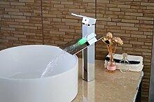 Europäischen Stil Retro-Waschbecken Wasserhahn die neue färbige führte temperatur kupfer becken wasserhahn aus licht SLT