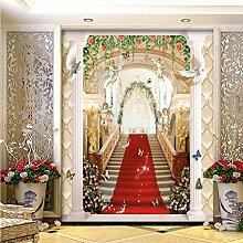 Europäischen stil rot angel 3d stereo hintergrund wandmalerei wandbild lobby badezimmer büro hotel tapete 200X150 cm