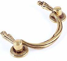 Europäischen Stil Schrank Schublade Metall Pull Griff Gold Ton 8cm lang