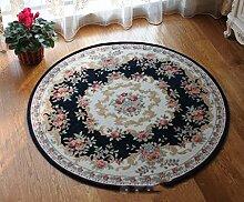 Europäischen Stil Teppich Runde, Wohnzimmer, Schlafzimmer Stoff Teppich, Drehstuhl Stuhl Tischteppich, hängende Korb Decke , #4