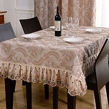 Europäischen Stil Wohnzimmer Spitze Tischdecke/Quadratische Tischdecke/Stoff-tischdecke-B 150x150cm(59x59inch)