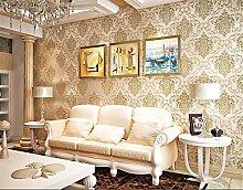Europäischen Vlies 3D Stereo TV Hintergrund Wand Papier Prägung Sub gold Wohnzimmer Schlafzimmer Studie Seide Tapete, beige