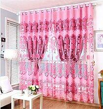 Europäischer Art-Vorhang-Farbton-Tuch-einfacher moderner Fußboden zur Decke Fenster alle Shading Schlafzimmer-Lichtschutz-Wohnzimmer-Vorhang (perforiert) ( farbe : # 6 , größe : 1.5*2.7m )