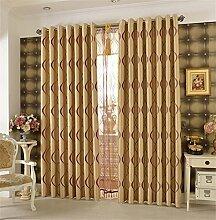 Europäischer Art-Vorhang-Tuch-Wohnzimmer-Raum-Bucht-Fenster-Schattierung Schatten-einfacher moderner Fußboden zur Decke Fenster-Vorhang (Haken herauf Art) ( farbe : # 3 , größe : 3.0*2.7m )