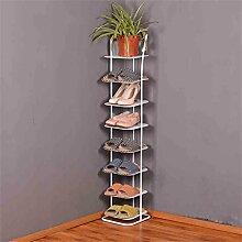 Europäischer Eisen-Schuh-Rack Einfacher mehrstöckiger Aufbewahrungsschuh-Schrank-Wohnzimmer-kleiner Schuh-Zahnstange ( Farbe : A )