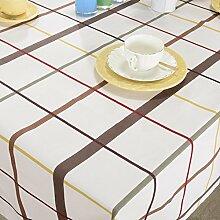 Europäischer Garten Plaid Tischdecke,Tuch Baumwollsegeltuch Rechteckiges Kaffeetuch,Tischdecke Tischdecke-A 140x140cm(55x55inch)