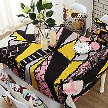 Europäischer kaffee tischtuch baumwolle und bettwäsche garten klein frisches rechteckig wohnzimmer esstisch cover-C 140x140cm(55x55inch)