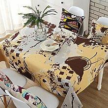 Europäischer kaffee tischtuch baumwolle und bettwäsche garten klein frisches rechteckig wohnzimmer esstisch cover-B 140x180cm(55x71inch)