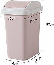 Europäischer kreativer großer Schütteldeckel Mülleimer ( Farbe : Weak pink )