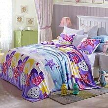 Europäischer Stil Blumen/Blumen dicker Polyester Sofadecken-B 180x200cm(71x79inch)