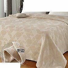 Europäischer Stil Einfarbig Blumen/Blumen 100% Baumwolle Sofadecken-E 200x230cm(79x91inch)
