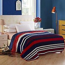 Europäischer Stil Gestreift [verdicken] Doppelschicht Polyester Sofadecken-A 150*200cm(59x79inch)