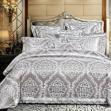 Europäischer Stil Heimtextilien Baumwolle Satin Jacquard 4 Sätze von Bettwäsche (1 Bettwäsche + 1 Steppdecke + 2 Kissenbezüge) , W , 1.8m bed