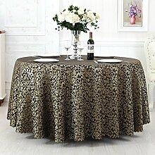 Europäischer Stil Hotel Tischtuch Stoff Restaurant Hotel Tischtuch Wohnzimmer Kaffeetisch Quadratisch Tischtuch Kreisförmig Rund Tisch Tischtuch ( farbe : # 4 , größe : 300cm )