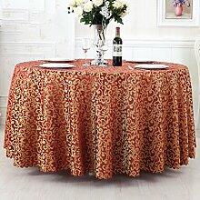 Europäischer Stil Hotel Tischtuch Stoff Restaurant Hotel Tischtuch Wohnzimmer Kaffeetisch Quadratisch Tischtuch Kreisförmig Rund Tisch Tischtuch ( farbe : # 5 , größe : 180cm )