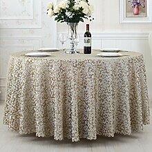 Europäischer Stil Hotel Tischtuch Stoff Restaurant Hotel Tischtuch Wohnzimmer Kaffeetisch Quadratisch Tischtuch Kreisförmig Rund Tisch Tischtuch ( farbe : # 1 , größe : 180cm )