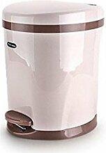 Europäischer Stil Khaki Creative Home Pedal Mülleimer verlangsamen Mute Home Plastic mit Abdeckung Speicher Eimer (5.5L oder 8.5L) Kreativ ( größe : 8.5L )