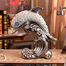 Europäischer Stil Kreative Beschichtung Keramik Prozess Delphin Dekoration Dekorationen Wohnzimmer Mesa Weinschrank TV-Schrank Dekoration