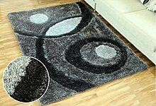 Europäischer Teppich 3D Couchtisch Teppich Wohnzimmer Schlafzimmer Teppich Rechteck Voll Voll Dick Bettdecke Decke ( Farbe : B4 , größe : 140*200CM )