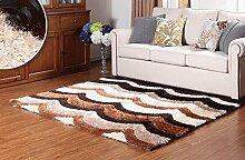 Europäischer Teppich 3D Wohnzimmer Kaffeetisch Teppich Modern Einfaches Schlafzimmer Nachttischdecke Startseite ( Farbe : A6 , größe : 140*200CM )