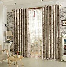 Europäisches Art-Vorhang-Tuch-Wohnzimmer-Schlafzimmer-Bucht-Fenster-Schattierung Schatten-einfaches modernes Fußboden zur Decke Fenster-Vorhang (Stanz-Art) ( farbe : # 4 , größe : 4.0*2.7m )