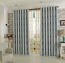 Europäisches Art-Vorhang-Tuch-Wohnzimmer-Schlafzimmer-Bucht-Fenster-Schattierung Schatten-einfaches modernes Fußboden zur Decke Fenster-Vorhang (Stanz-Art) ( farbe : # 2 , größe : 4.0*2.7m )