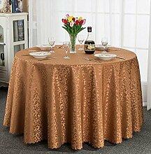 Europäisches Hotel Tischdecke, Stoff runder Speisetisch, Hotel-Gaststätte-Tabelle Kaffeetisch-Tuch Kundenspezifische Tabelle runde Tisch-Tischdecke ( farbe : B , größe : Round 2.2m )