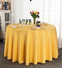 Europäisches Hotel Tischdecke, Stoff runder Speisetisch, Hotel-Gaststätte-Tabelle Kaffeetisch-Tuch Kundenspezifische Tabelle runde Tisch-Tischdecke ( farbe : B , größe : Round 1.8m )