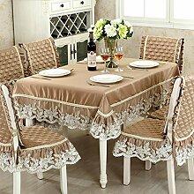 Europäisches Modernes Tisch Tuch,Einfacher Rechteckiger Garten Lace Tee Tisch Tuch-A 90x90cm(35x35inch)