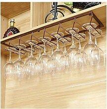 Europäisches Weinglas-Hängegestell aus Eisen