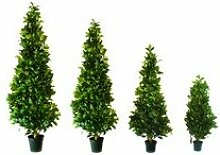 EUROPALMS 61295-Pflanze Dekoration Baum Laurel Kegel grün 90 cm