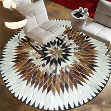 European Carpet natürlichen Splicing Circular Leder-Teppich ( größe : Diameter90cm )