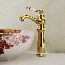 European Gold Hahn Waschbecken Armatur gold alle Kupfer Wasserhahn im Waschbecken Wasserhahn