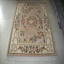 European Handmade Wollteppiche/Chinesischen Stil Wohnzimmerteppich/Hall Couchtisch Sofa-Teppich-A 160x230cm(63x91inch)