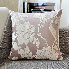 European Jacquard Pillow,Fabric Cushion Sofa Pillow,Pillowcase Office Cushion Waist Pillow-B 30x50cm(12x20inch)VersionB