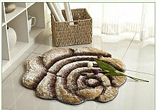 European Style 3D Stereo Seide Rose runden Teppich, Teppich Wohnzimmer, Schlafzimmer Swivel Stuhl Computer Stuhl Mat , #6 , diameter 90cm