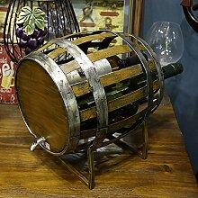 European Style Barrel Shaped 3 Flasche Wein