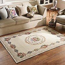 European-Style-Bettdecke/Modernen minimalistischen home Teppich/Sofa-Bett Schlafzimmer Teppich-B 140x200cm(55x79inch)