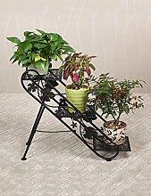 European-style Blumenregale Iron Flower Rack Drei-Layer-Balkon Ecke Leiter Blume Topf Blume Rack ( farbe : A )