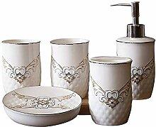 European Style Ceramics 5-teiliges Bad- und