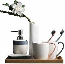 European Style Ceramics 5-teiliges Badezimmer- und