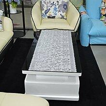 European-style coffee table cloth/wasserdicht,einweg-couchtisch kissen/tischtuch/tischläufer,pvc,bronz tisch matte/tv schrank pad-A 50x160cm(20x63inch)