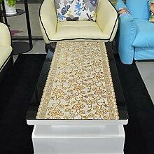 European-style coffee table cloth/wasserdicht,einweg-couchtisch kissen/tischtuch/tischläufer,pvc,bronz tisch matte/tv schrank pad-B 50x100cm(20x39inch)