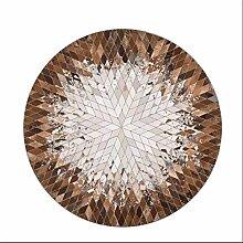 European Style Einfache Schwarz-Weiß-Runde Teppich Wohnzimmer Schlafzimmer Sofa Bedside Teppich Hanging Korb Drehstuhl Ruhige Hocker Mat Computer Stuhl Kissen ( Farbe : #2 , größe : Diameter-120CM )