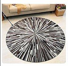 European Style Einfache Schwarz-Weiß-Runde Teppich Wohnzimmer Schlafzimmer Sofa Bedside Garderobe Teppich Hängende Korb Drehstuhl Ruhige Hocker Mat Computer Stuhl Kissen ( Farbe : #1 , größe : Diameter-90CM )