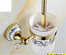 European Style Handtuchhalter/Vergoldete Kristall Keramik Gold Handtuchhalter/Antike Bad-Accessoires/Badezimmerzahnstangen-R